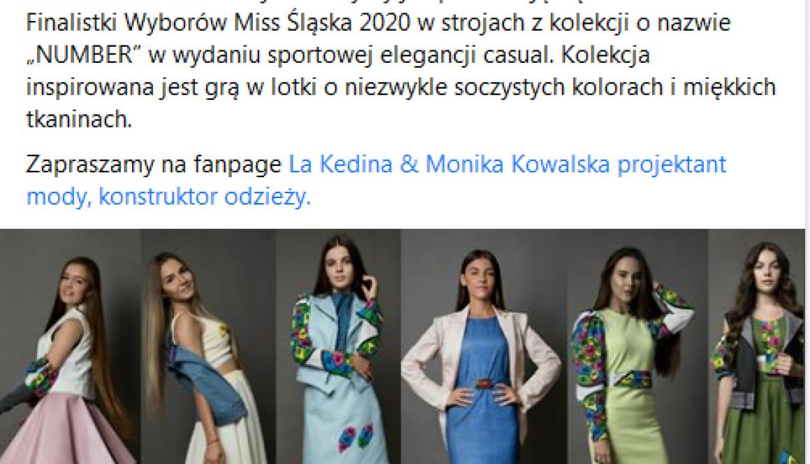 La Kedina Miss Śląska 2020 wybory